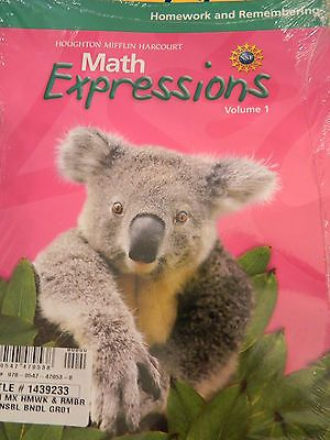 Math Expressions Homework and Remembering Set Grade 1 Volumes 1 & 2 *2011*