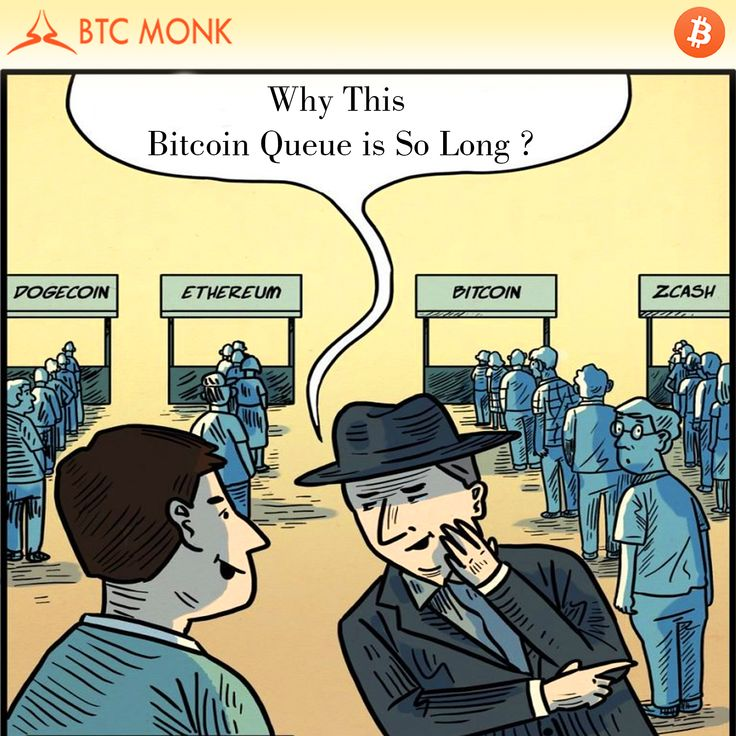 Bitcoin line is so long because it is most secure and