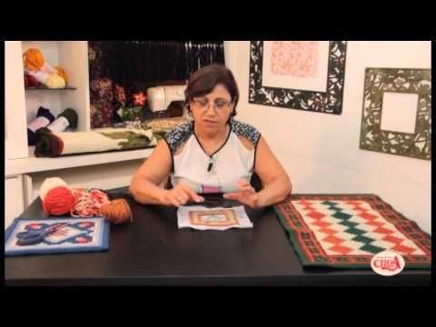 Tapeçaria - Ponto Casa Caiada / Barroco - Passo a passo 2 - YouTube