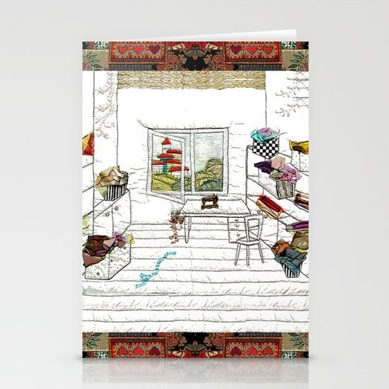 Perfect sewing room Stationery Cards