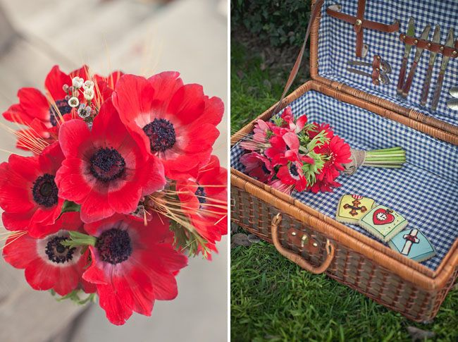 Gingham and poppies.