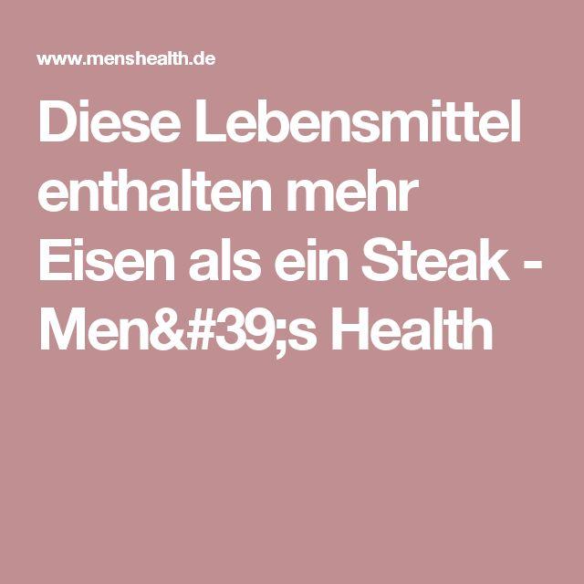 Diese Lebensmittel enthalten mehr Eisen als ein Steak - Men's Health