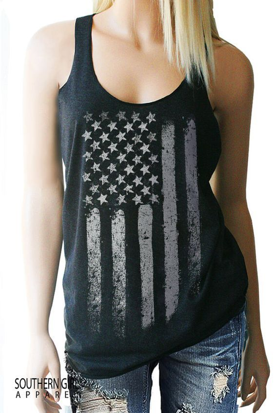 American Flag Tank Top. American Flag. by SouthernGirlApparel