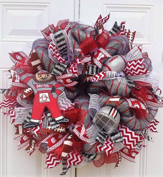 Ohio State Wreath Ohio State Buckeyes Wreath Buckeyes
