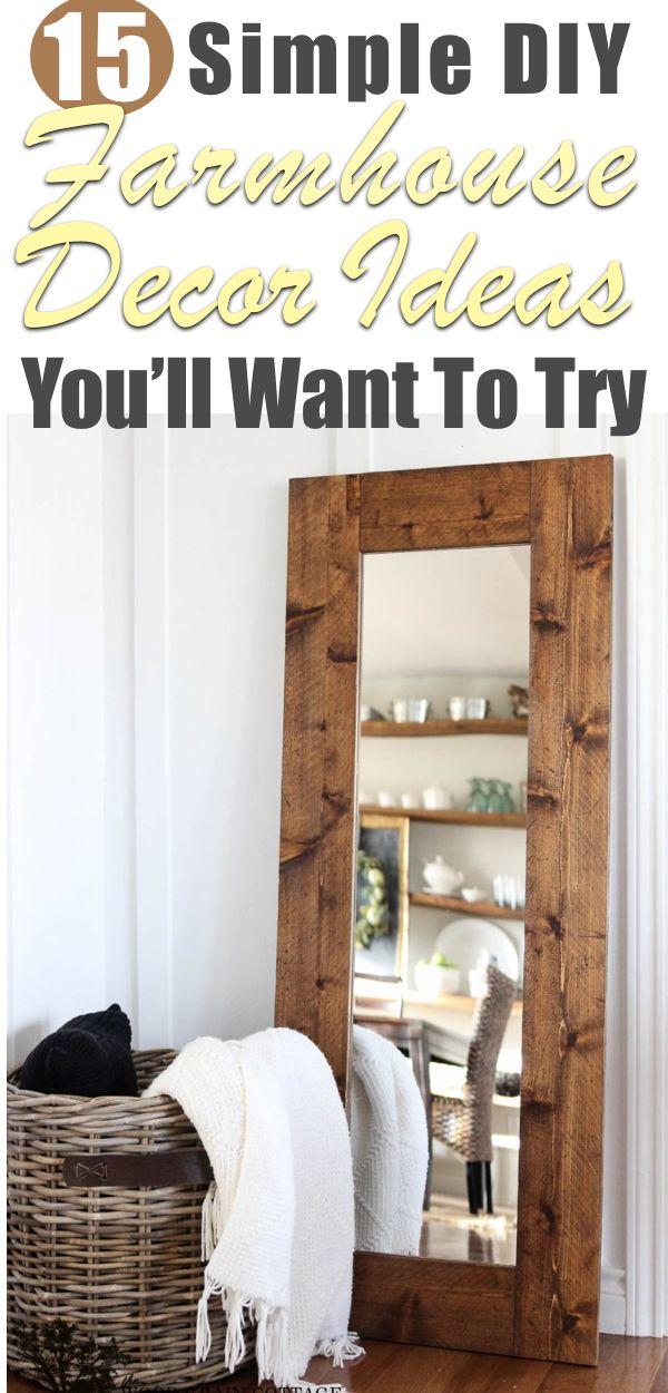 15 Simple DIY Farmhouse Home Decor Ideas