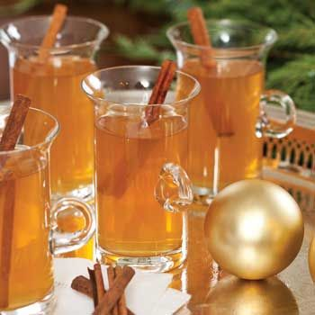 Hot Spiced Cider...add an ounce of Applejack and a tablespoon of Tuaca before serving. Yum!