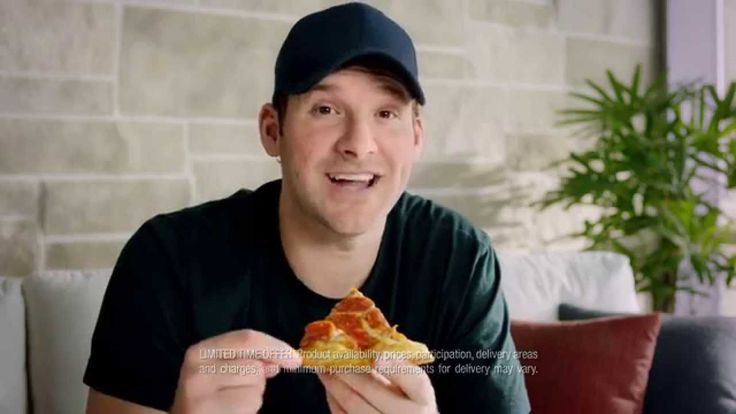 Tony Romo Pizza Hut Triple Cheese Covered Stuffed Crust Commercial