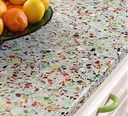 Simply Irresistible...Designs!: Recycled Glass for Countertops - perfect for an island!