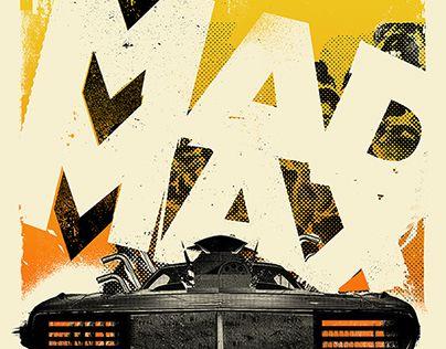 """查看此 @Behance 项目:""""Mad Max // AIGA Popcorn Posters 2014 Summer Show""""https://www.behance.net/gallery/20077107/Mad-Max-AIGA-Popcorn-Posters-2014-Summer-Show"""
