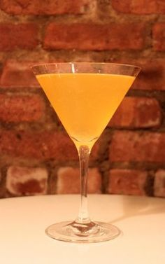 Orange Crush Cosmo ½ oz. Drambuie 1 oz. Grey Goose L'Orange Flavored Vodka Juice of ½ Orange Ice In a mixing tin half-filled with ice, add: Shake until tin is frosted, strain into a martini glass.