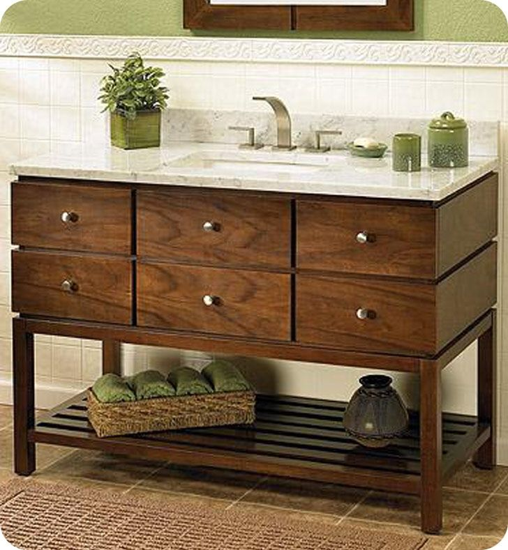 Digital Art Gallery Fairmont Designs Windwood Contemporary Bathroom Vanity Natural Walnut
