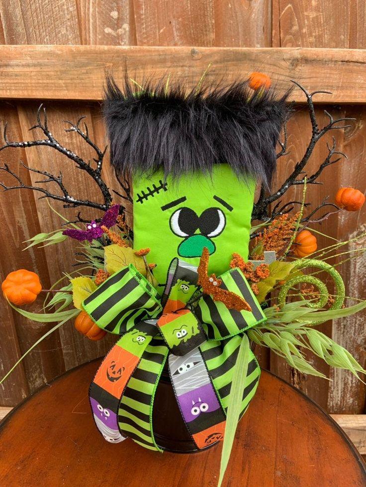 Frankenstein Halloween Centerpiece in 2020 Halloween