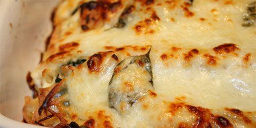 Lasagna de Zapallo italiano con Espinaca