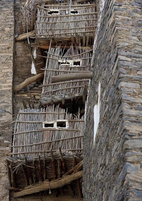 Rijal Alma village, the kitchens. Saudi Arabia by Eric Lafforgue, via Flickr