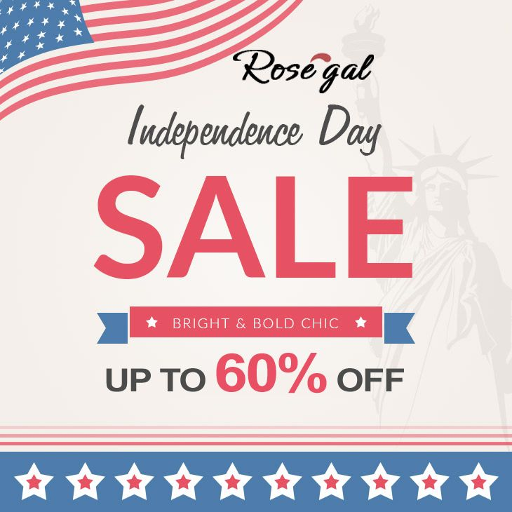 Rosegal is offering Independence Day Sale: Get up to 60% ...
