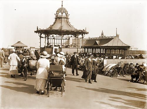 1917 Bandstand and Pier, Marine Parade, Worthing West Sussex England