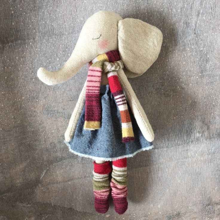 Little elephant girl - part of the new collection by PeanutAndElliott