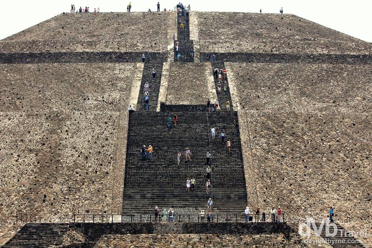 Teotihuacan, Mexico | dMb Travel - Travel with davidMbyrne.com | Scaling the Piramide del Sol (Pyramid of the Sun), the third largest pyramid in the world. Teotihuacan, Mexico.