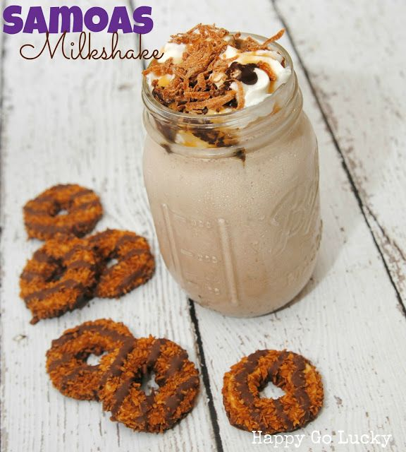 samoas milkshakes milkshake recipes healthy milkshake milk shakes girl ...