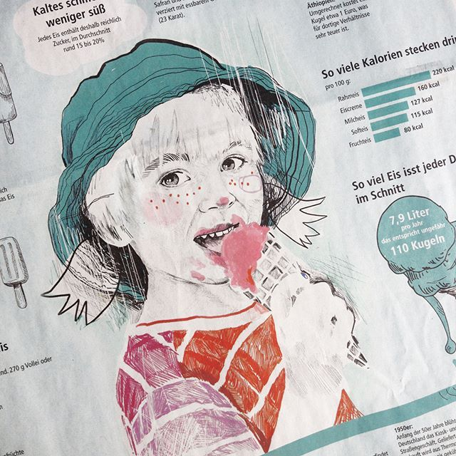 Ice, ice baby! Illustration for Main Post Newspaper. #mainpost #würzburg #newspaper #newspaperart #editorial #editorialdesign #editorialillustration #illustration #illustrationdesign #illustrator #illustrationoftheday #ice #icecream #infographic #infographics #illustrationart #artwork #artoftheday #illustrateyourworld #illustratenow #pencil #pencildrawing #drawingoftheday #sketch #sketchbook #picame #portrait #portraitart #portraitillustration