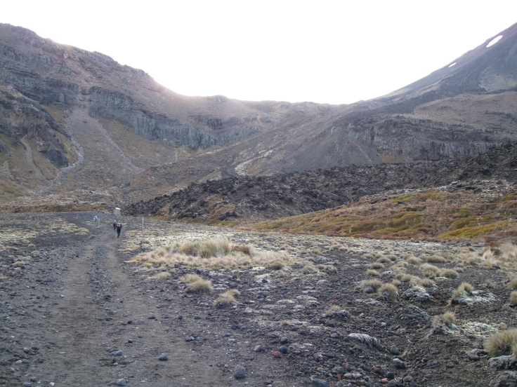 Walking towards the saddle between the mountains and the Devil's staircase