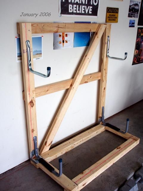 Wooden Kayak Rack Diy Storagegarage