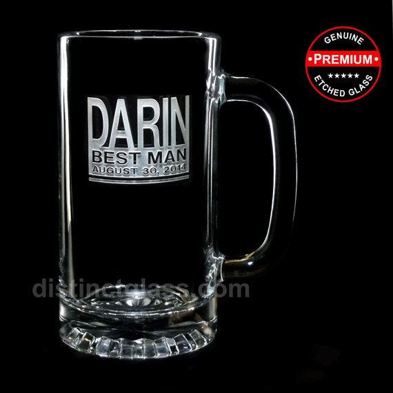Featuring another exclusive Distinct Glass Studio design, the FUSION WEDDING Beer Mug!    Your Big Day is deserving of a toast and this handsome