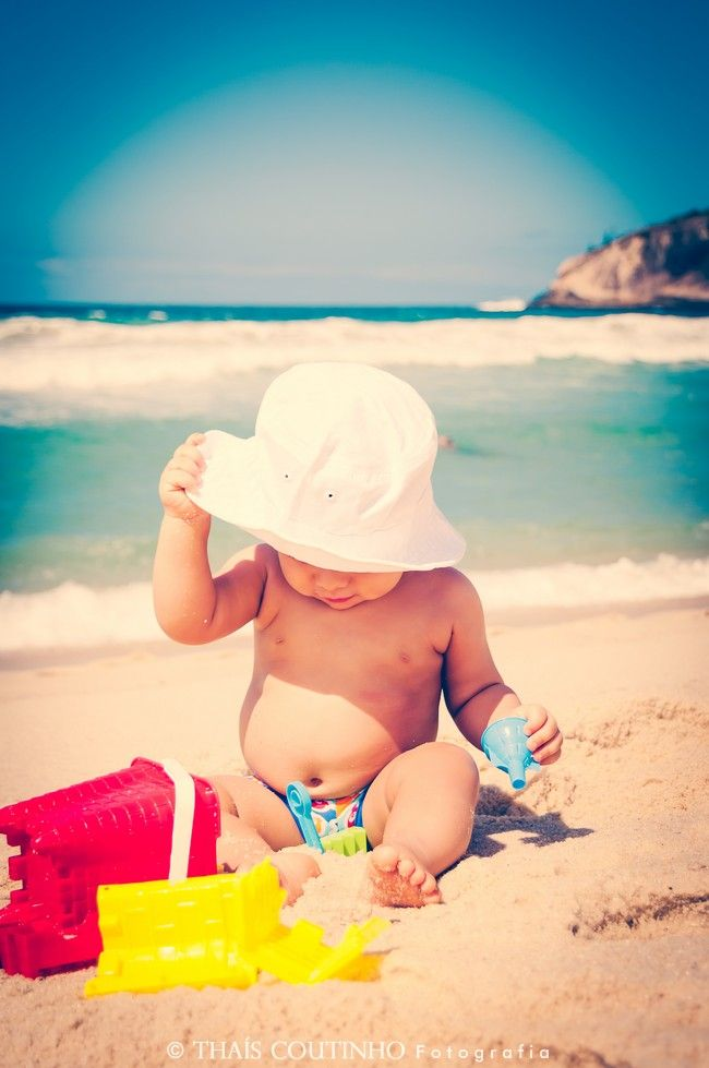baby boy photo shoot at the beach, rio de janeiro, brazil