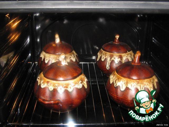 Ароматная гречка с сердечками и грибами в горшочках ингредиенты