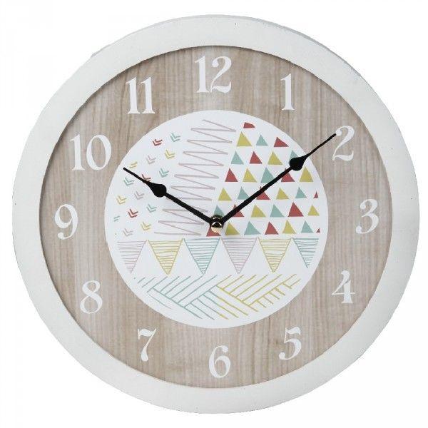 Horloge Horloge Bois Et Graphique