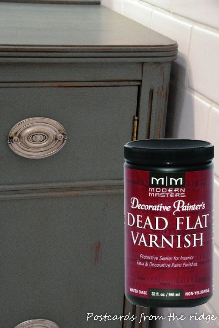 """PAINTING   SEALER :: Modern Masters Dead Flat Varnish :: An Amazon reviewer stated she had issues w/ various water-based poly brands, even the flattest poly was too shiny, went on unevenly & was tacky days later. She found this & said the quality was """"OUTSTANDING,"""" went on 100x better than regular poly, dried so smooth, she didn't have to sand btwn coats, had NO SHINE, NO BRUSH MARKS & the final product looked like pro work, not a home job (& was able to varnish 4 large pieces of furniture)!"""
