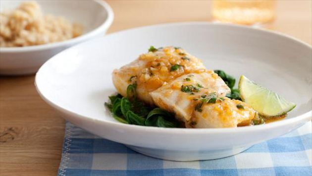 Get this all-star, easy-to-follow Thai-Style Halibut with Coconut-Curry Broth recipe from Ellie Krieger