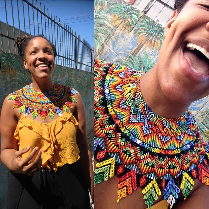 the most beautiful EVER (there's more where this came from). Beautiful EXTRA large beaded collar. Beaded collar from Colombia via https://www.facebook.com/unityischange/