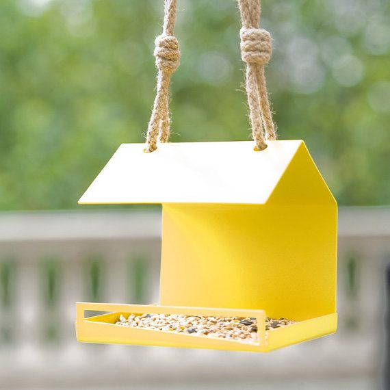Modern Bird Feeder. Bauhaus Inspired Bird by JuliaJacobDesigns