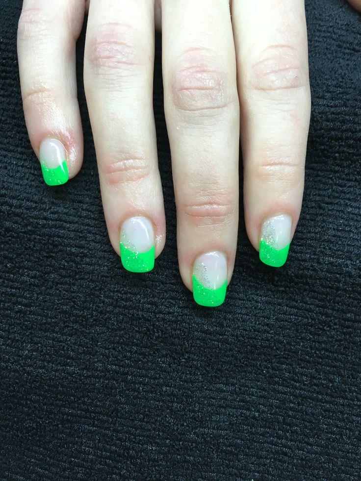 Neon Grün mit Glitzer  super leuchtend
