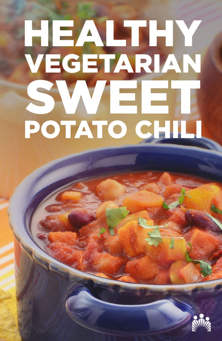 comfort foods! Try out this delicious vegetarian sweet potato chili ...