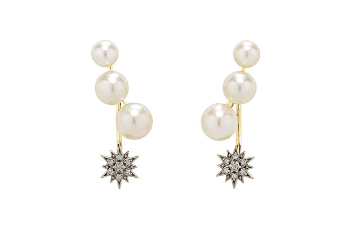 H.Stern earrings from the Pearls of Genesis collection, in Noble Gold with pearls and diamonds.