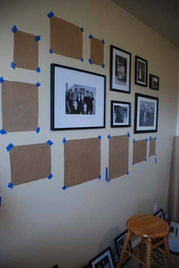 Great step by step on doing a photo gallery wall, but not sure I have the patience!: Hanging Pictures, Good Ideas, Photo Gallery Walls, Photos Wall, Photo Galleries, Photos Galleries Wall, Step By Step, Wall Pictures, Wall Galleries