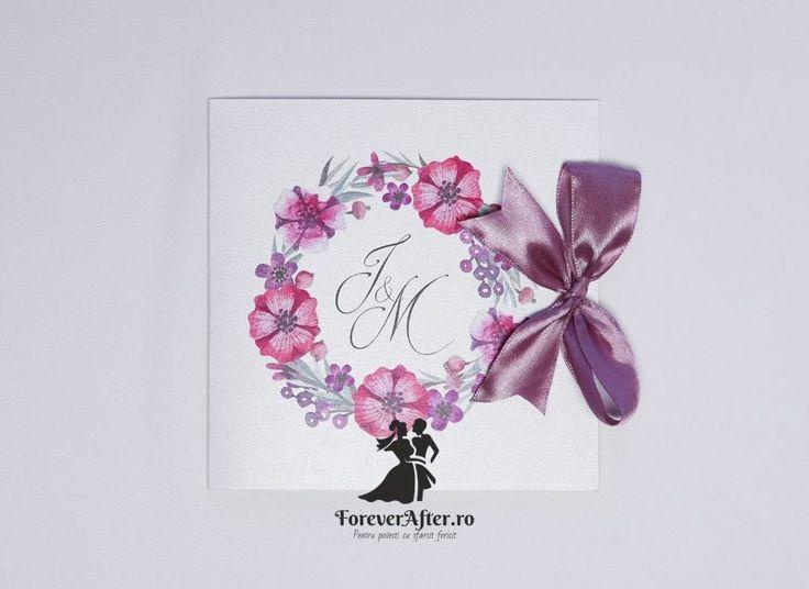 Invitatie de nunta Flower Fairy | Invitatii de nunta by ForeverAfter.ro