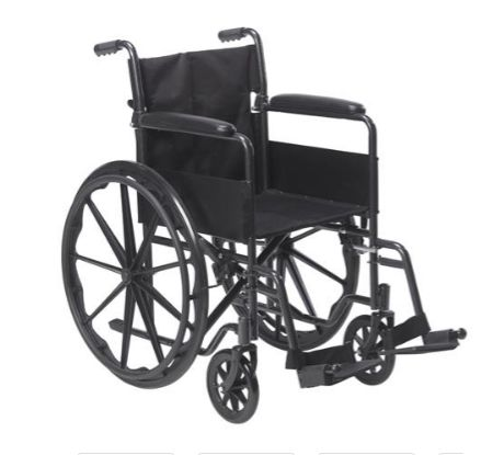 Wheelchair Drive 18inch Seat Capacity 250lbs w/Footrests (NEW FREE SHIPPING) - Click Here https://www.bonanza.com/listings/Wheelchair-Drive-18inch-Seat-Capacity-250lbs-w-Footrests-NEW-FREE-SHIPPING-/542278873  #wheelchair #medical #healthcare #fitness #disabled