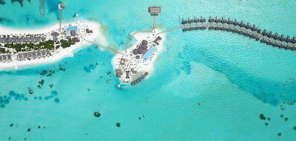 OZEN by Atmosphere, Maldiverne - set fra luften