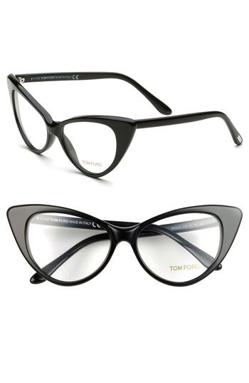 A true crazy cat lady will also look the part. Tom Ford Cats Eye Optical Glasses
