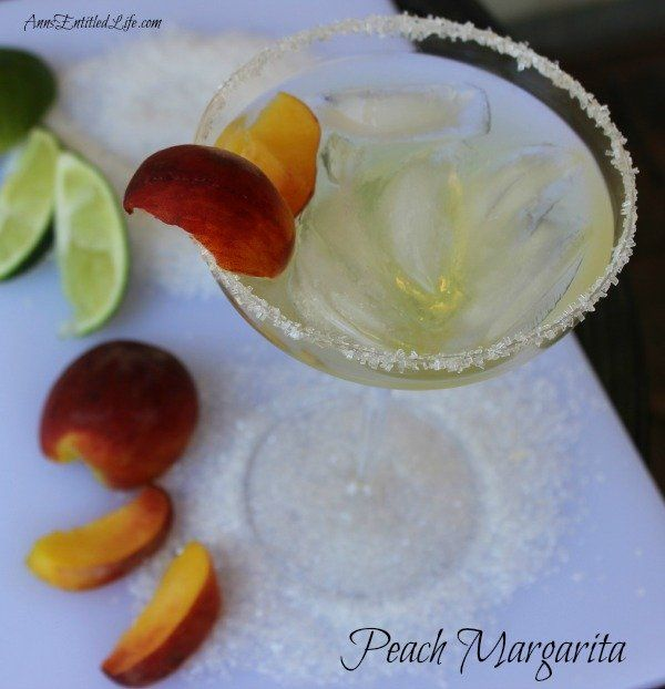 Peach Margarita Recipe; Warm summer evenings are perfectly suited to a delicious, cool libation. This Peach Margarita is just the drink for the occasion. On the rocks, this Peach Margarita Recipe is exquisitely sweet, refreshing and potent!