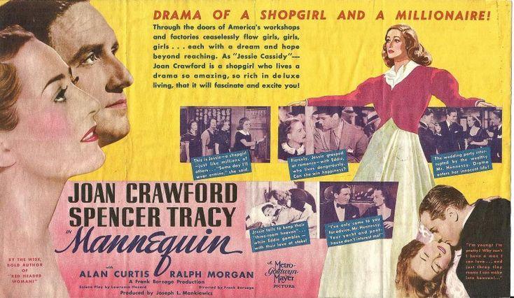 JOAN CRAWFORD SPENCER TRACY ORIGINAL VINTAGE MANNEQUIN MGM US FILM HERALD | Entertainment Memorabilia, Movie Memorabilia, Heralds | eBay!
