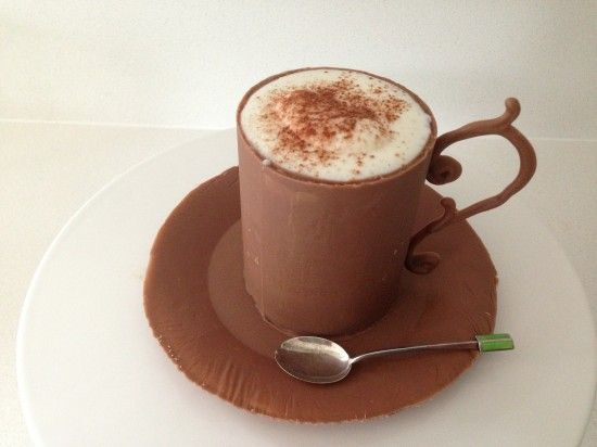 Chocolate Cup Recipe  How to make a chocolate cup & saucer http://howtocookthta.net