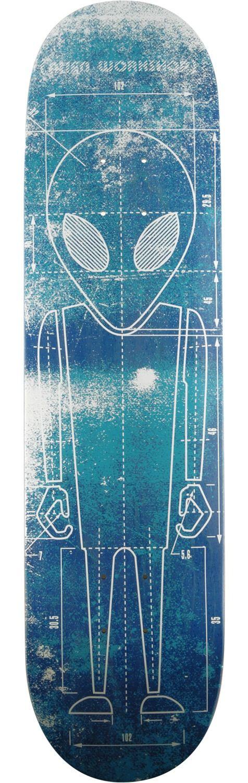 Alien Workshop Blueprint Large Skateboard Deck