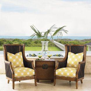 Island Estate Rum Beach Chair   Lexington Home Brands
