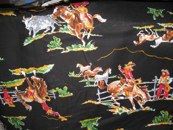 WESTERN FABRIC BY THE YARD COTTON 44 INCHES WIDE