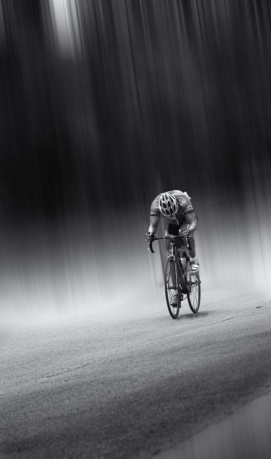 #Cyclist, pain, determination, speed