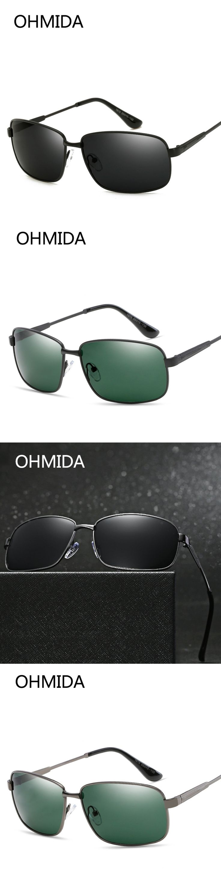 OHMIDA New Fashion Aviation Sunglasses Men HD Polarized Luxury Brands Vintage Sun Glasses Women Driver UV400 Men's Sunglass